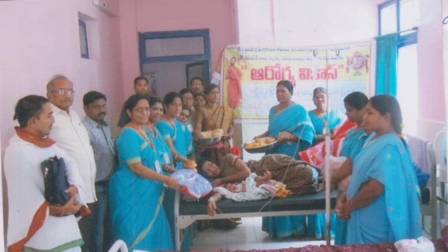 Housing Board Vikasa Tarangini Distributed Free Beds to Babies
