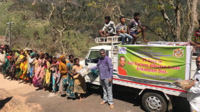 Thithli cyclone relief activities by VTS Bharath .