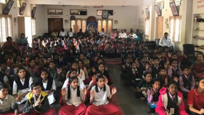 BhagwadGeeta Competitions for Private and Government School Students at VedaBhavan Karimnagar